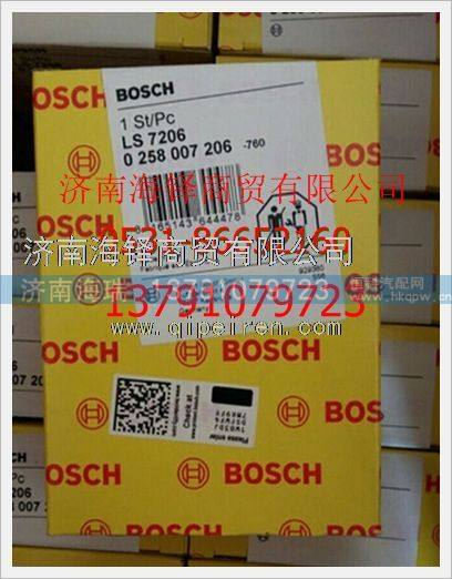 博世BOSCH正品CNGLNG天然气发动机氧传感器 0/258007206