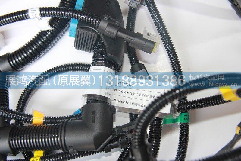 WP10发动机线束,带电磁硅油风扇612640080051/612640080051
